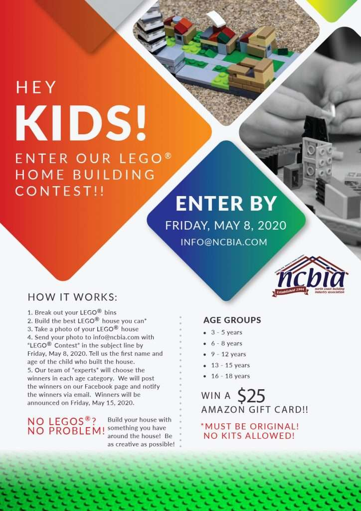 NCBIA LEGO home building contest May 2020