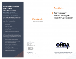 CareWorks trifold for North Coast BIA
